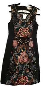 Anthropologie Embroidered Dress 0